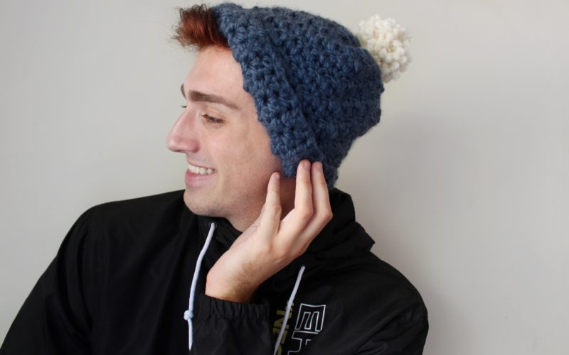 Crochet Blue Seed Hat